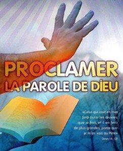 proclamtions prophétique